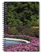 Fountain And Mums Spiral Notebook