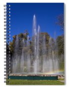 Fountain And Rainbow Spiral Notebook
