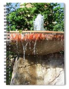 Fountain At Taliesen Spiral Notebook