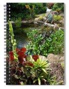 Fountain Flowers Spiral Notebook