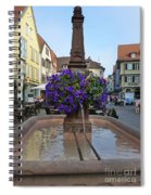 Fountain In Wertheim, Germany Spiral Notebook