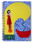 Fountain Of Creativity Spiral Notebook
