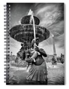 Fountain On Place De La Concorde - Paris Spiral Notebook