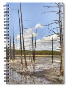 Fountain Paint Pots Lodgepole Pines - Yellowstone Spiral Notebook