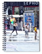 Fountain Party Spiral Notebook