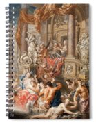 Fountain Scene In Front Of A Palace Spiral Notebook