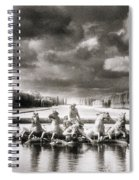 Fountain With Sea Gods At The Palace Of Versailles In Paris Spiral Notebook