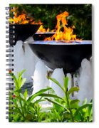 Fountains Of Fire Spiral Notebook