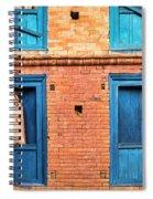 Four Blue Windows Spiral Notebook