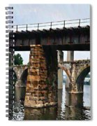Four Bridges Of East Falls Spiral Notebook