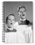 Four Choir Boys Singing, C.1950-60s Spiral Notebook
