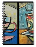 Four Cups Of Java Spiral Notebook