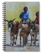 Four Donkey Drawn Cart Spiral Notebook