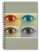 Four Eyes In Pop Art Spiral Notebook