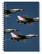 Four In Flight Spiral Notebook