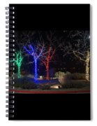 Four Lighted Trees Spiral Notebook