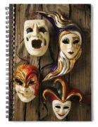 Four Masks Spiral Notebook