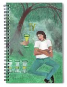 Four Of Cups Illustrated Spiral Notebook