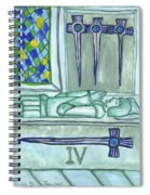 Four Of Swords Illustrated Spiral Notebook