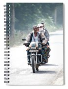 Four People On A Motorbike Spiral Notebook