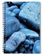 Four Rocks In Blue Spiral Notebook