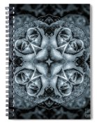 Noir Four Roses Symmetrical Focus Spiral Notebook