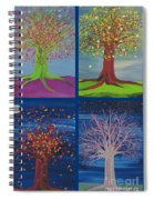 Four Seasons Trees By Jrr Spiral Notebook