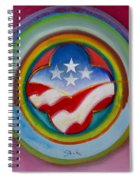 Four Star Button Spiral Notebook