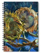 Four Sunflowers Gone To Seed, By Vincent Van Gogh, 1887, Kroller Spiral Notebook