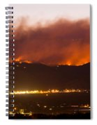 Fourmile Canyon Fire Burning Above North Boulder Spiral Notebook