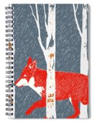 Fox And Birch Trees Spiral Notebook