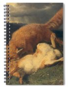 Fox And Hare Spiral Notebook