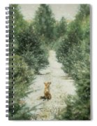 Fox In The Flurries Spiral Notebook