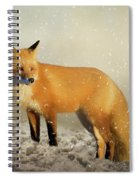 Fox In The Snowstorm - Painting Spiral Notebook
