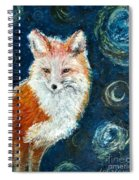 Fox Red  Painting  Spiral Notebook