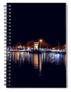 Fox River Green Bay At Night Spiral Notebook