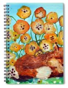 Fox Says Come And Sit With Me Spiral Notebook
