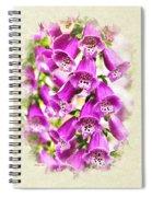 Foxglove Flowers Blank Note Card Spiral Notebook