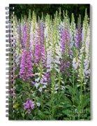 Foxglove Garden - Digital Art Spiral Notebook