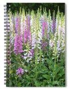 Foxglove Garden - Vertical Spiral Notebook