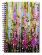 Foxgloves Large Painting Spiral Notebook