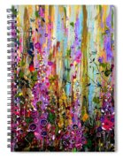 Foxgloves Panel One Spiral Notebook