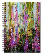 Foxgloves Panel Two Spiral Notebook
