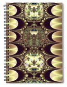 Fractal 42 Cameos In Gold And Ivory Spiral Notebook