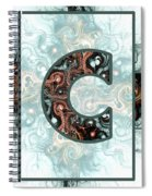 Fractal - Alphabet - C Is For Complexity Spiral Notebook