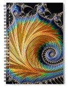 Fractal Art - Blue And Gold Spiral Notebook