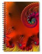 Fractal Art - Breath Of The Dragon Spiral Notebook