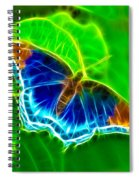 Fractal Butterfly Spiral Notebook