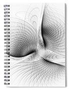 Fractal Design -bw 01-  Spiral Notebook