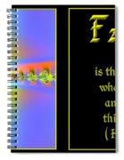 Fractal Faith Hebrews 11 Spiral Notebook